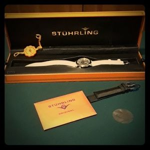 Stuhrling Aphrodite Delight skeleton women's watch